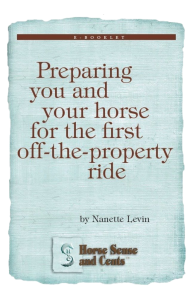 young horse training tips for the trail at http://HorseSenseAndCents.com