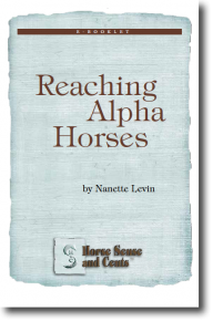 great horse Kindle and audio book for reaching alphas at http://HorseSenseAndCents.com